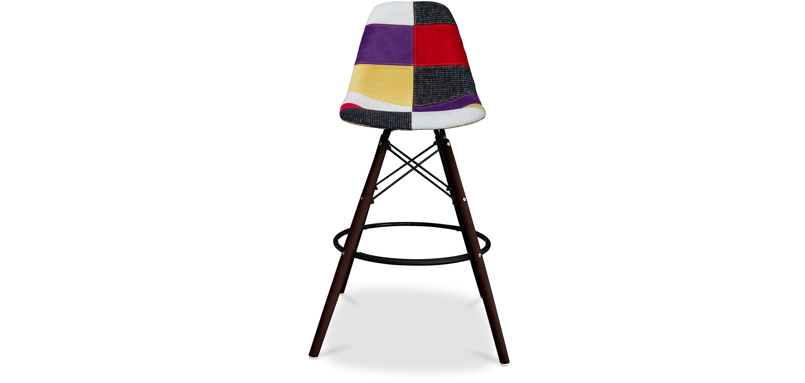 tabouret de bar geneva pi tement fonc patchwork pas cher. Black Bedroom Furniture Sets. Home Design Ideas