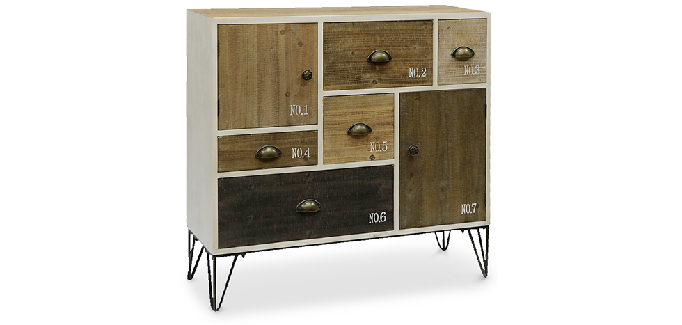 buffet hairpin de style vintage industriel pas cher. Black Bedroom Furniture Sets. Home Design Ideas