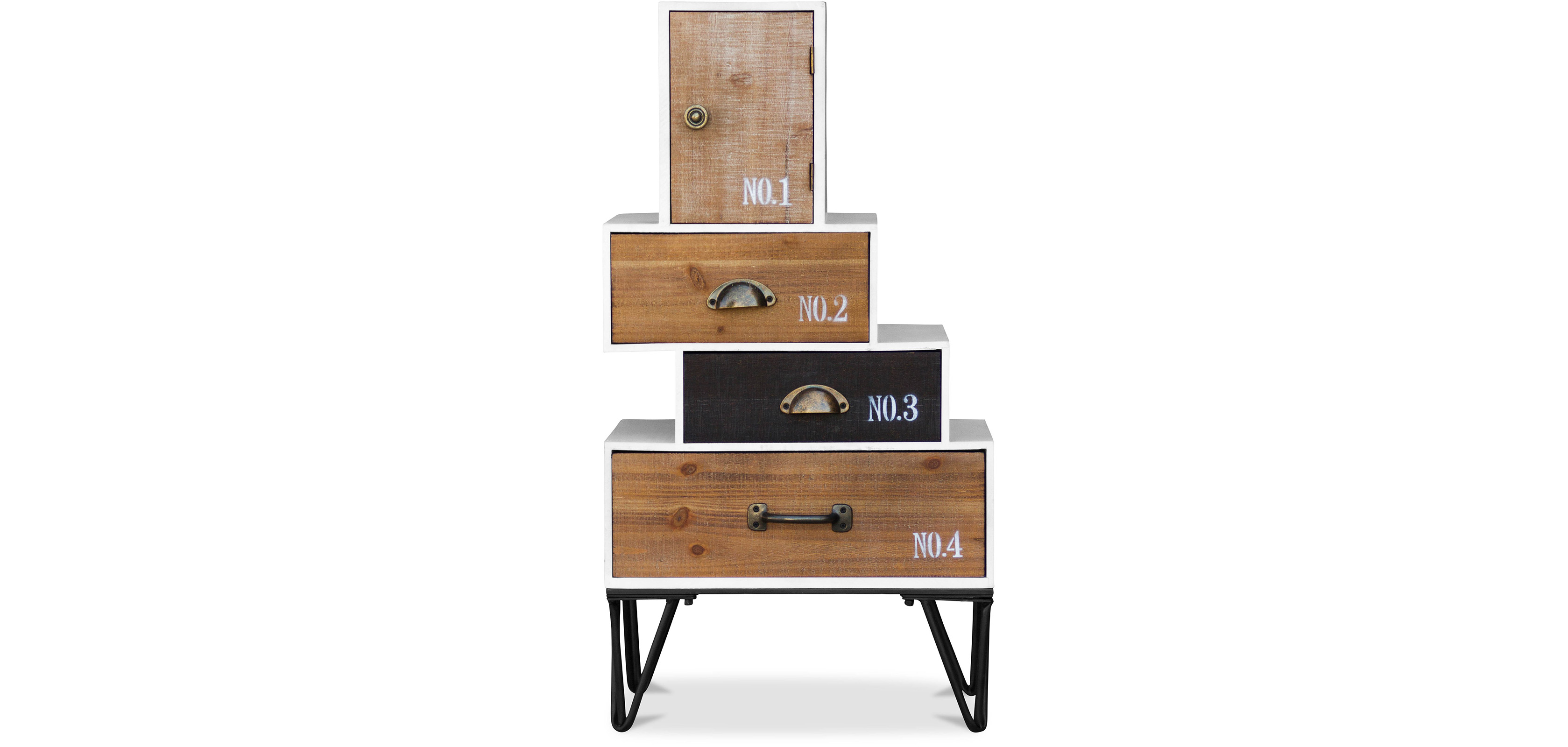 Commode hairpin en bois style vintage industriel pas cher - Commode style industriel ...