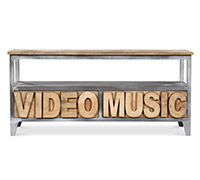 Mueble TV de madera de mango estilo industrial - Music