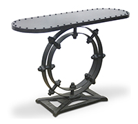 Table console Ring Design vintage industriel - Métal