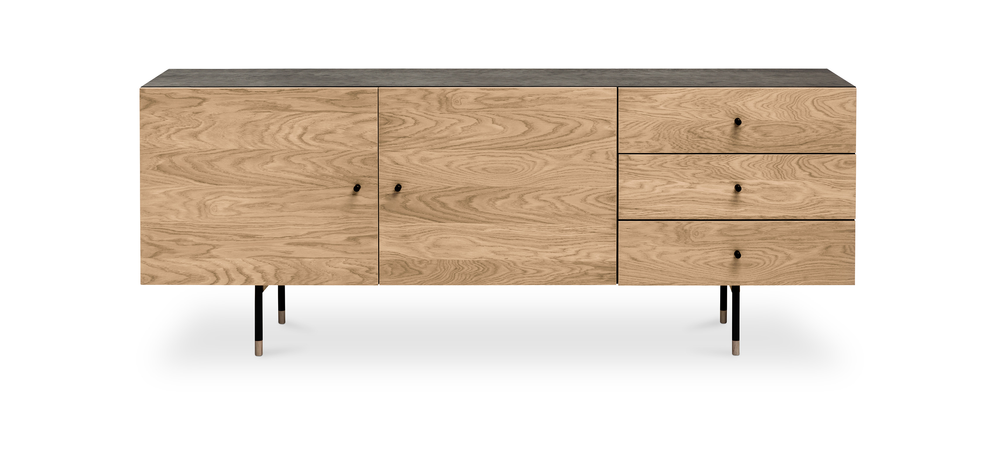 buffet en bois bicolore de style scandinave jafre pas cher. Black Bedroom Furniture Sets. Home Design Ideas