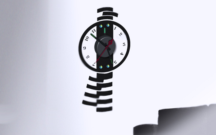 Horloge murale balancier design - Horloge murale decorative ...