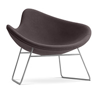 Fauteuil Lounge (Lounge chair) K2 - Style Dusk & Hertzog - Cachemire