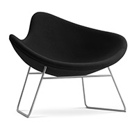 Fauteuil Lounge K2 (Lounge chair) - Style Busk & Hertzog - Cuir Premium