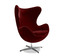 Egg Chair Arne Jacobsen Style - Tissu