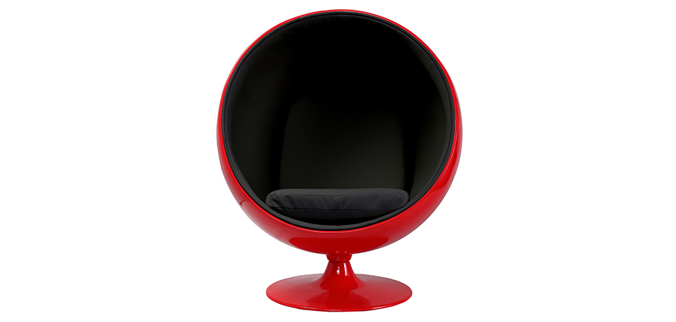 fauteuil ball chair rouge eero aarnio style tissu pas cher. Black Bedroom Furniture Sets. Home Design Ideas