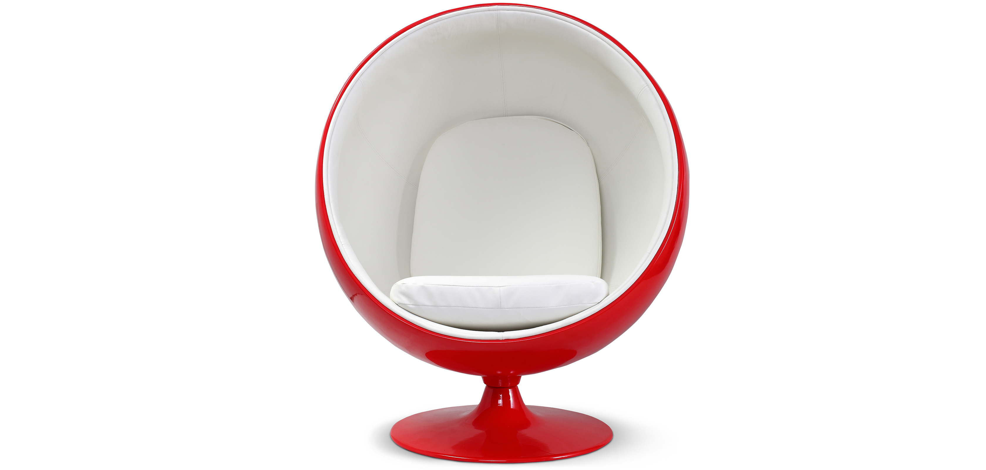 ball chair rosso eero aarnio style similpelle poltrona di design. Black Bedroom Furniture Sets. Home Design Ideas