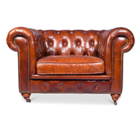 Fauteuil Chesterfield Churchill Lounge - Cuir Premium