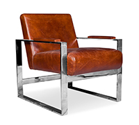 Fauteuil Design Churchill Lounge - Cuir Premium