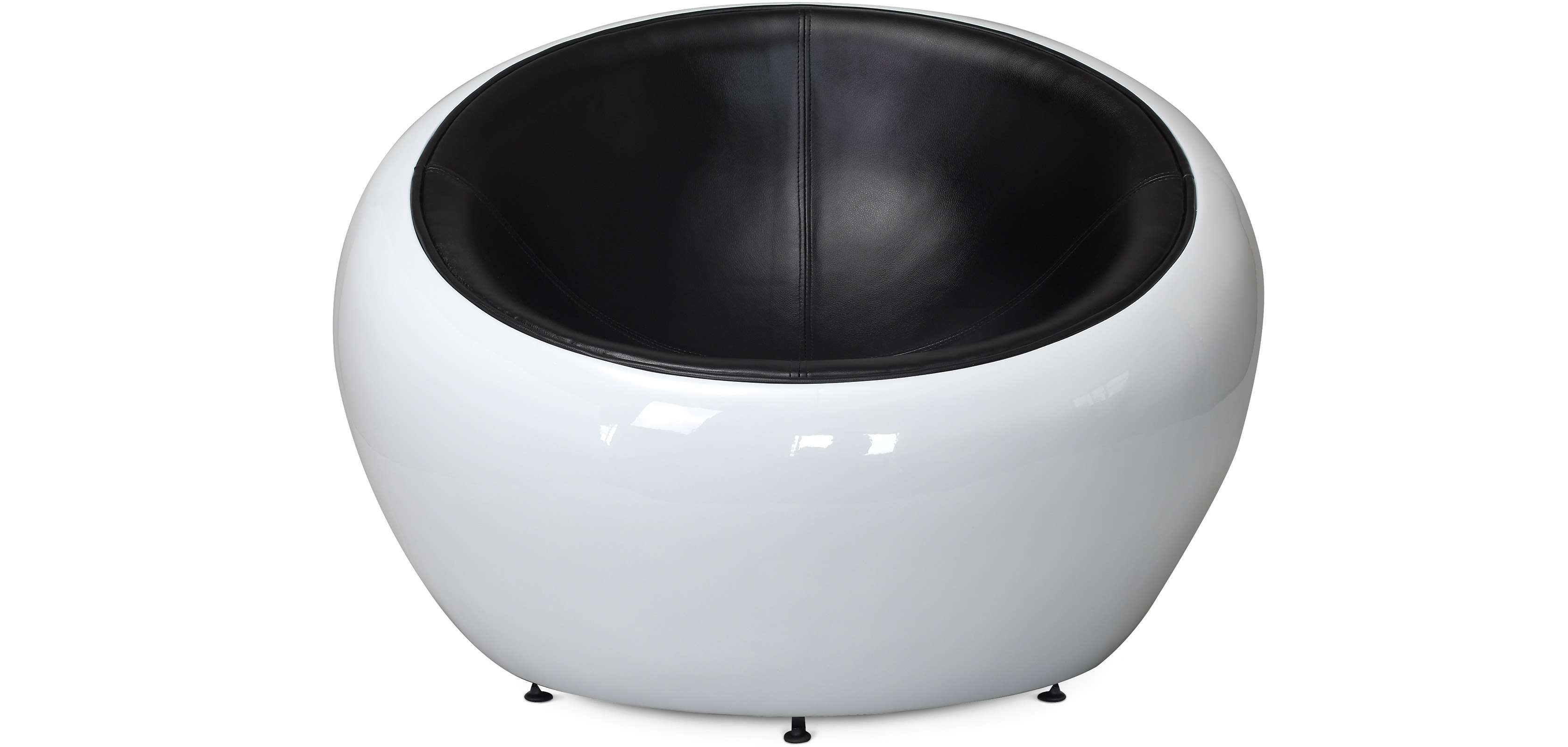 fauteuil egg pod ball chair style eero aarnio cuir premium pas cher. Black Bedroom Furniture Sets. Home Design Ideas