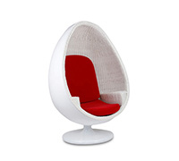 Fauteuil Design Cocoon - Rotin