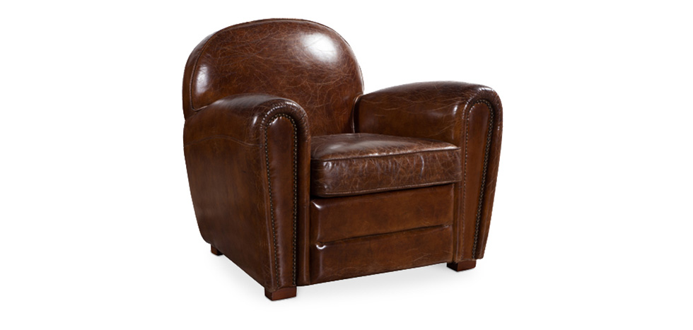fauteuil club marron en cuir montana pas cher. Black Bedroom Furniture Sets. Home Design Ideas