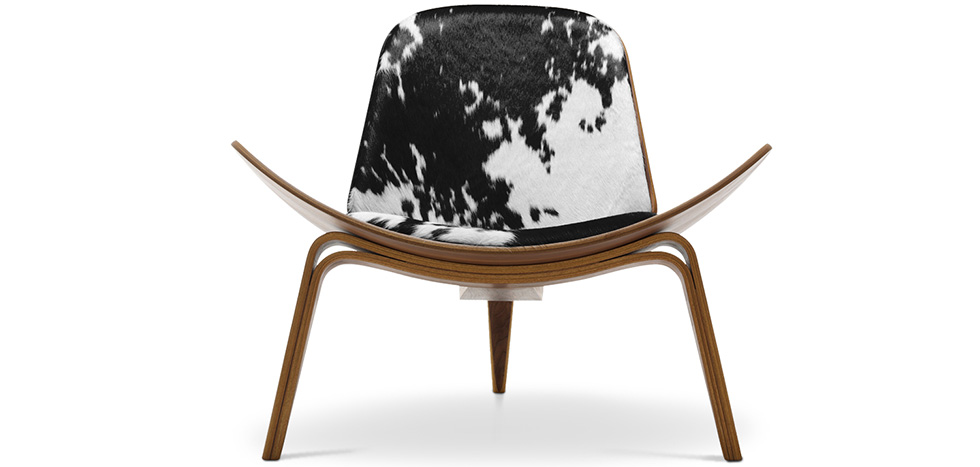 fauteuil lounge ch07 style hans j wegner pony pas cher. Black Bedroom Furniture Sets. Home Design Ideas