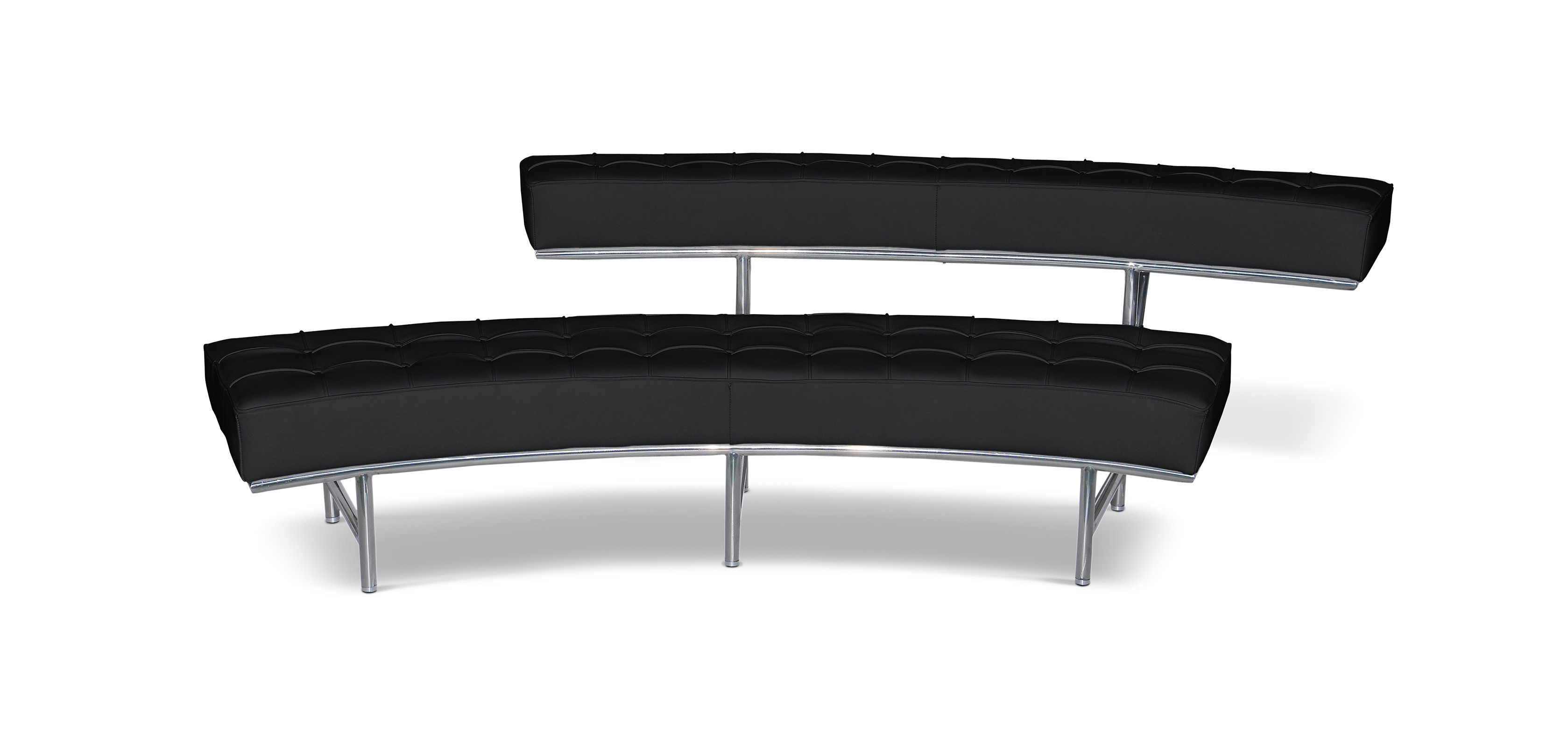 banc canap monte carlo 2 style eileen gray simili. Black Bedroom Furniture Sets. Home Design Ideas