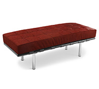 Banc Barcelona (2 places) - Inspiration Ludwig Mies van der Rohe - Cuir Premium