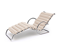 Chaise longue - Inspiration Ludwig Mies van der Rohe - Simili Cuir