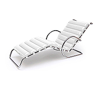 Chaise longue - Inspiration Ludwig Mies van der Rohe - Cuir Premium