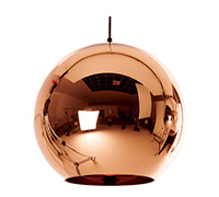 Lampe Suspension Copper Shade Tom Doyle Style - 40 cm - Métal Chromé