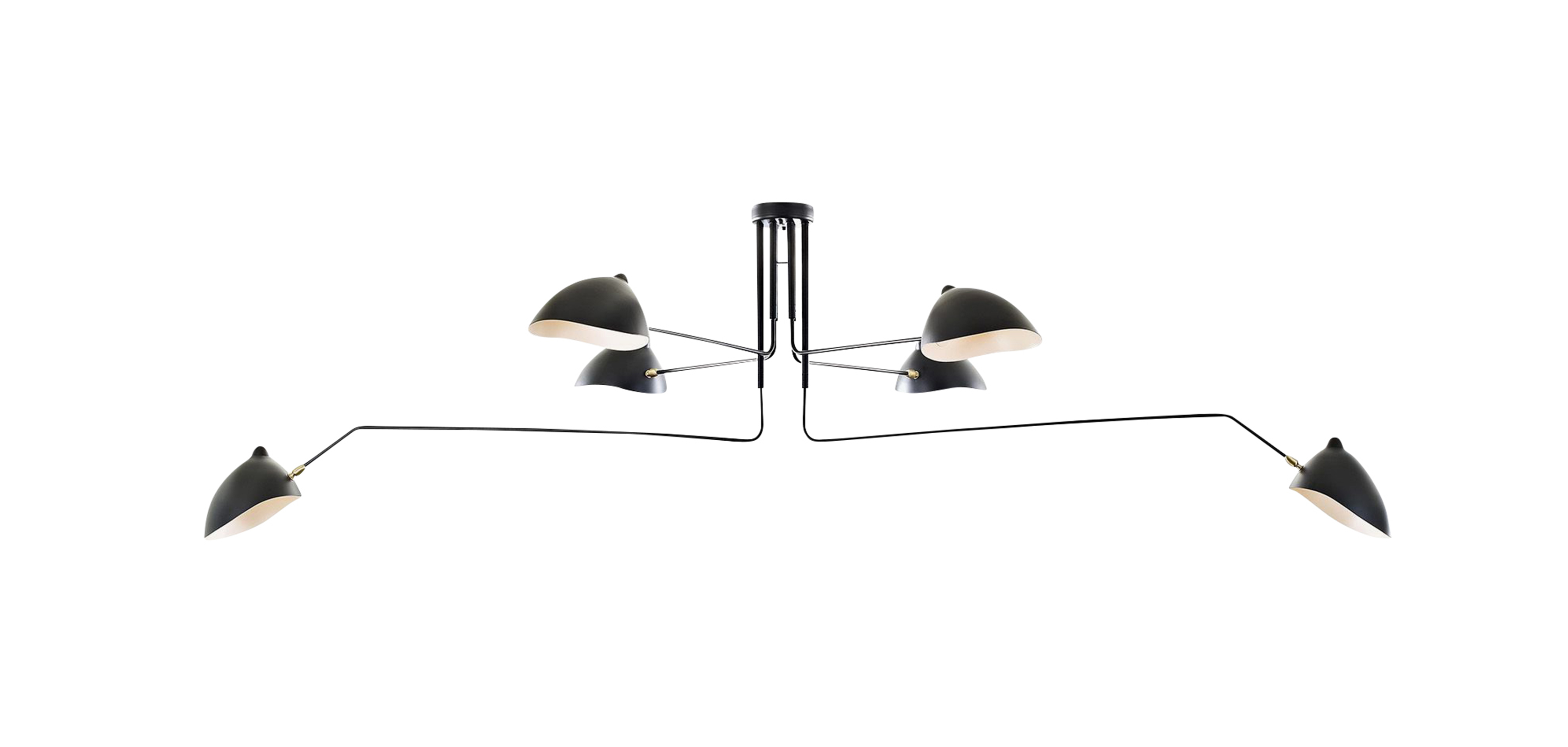 Design Serge Mouille mcl r6 pendant lamp serge mouille style suspensions lampe en suspension style