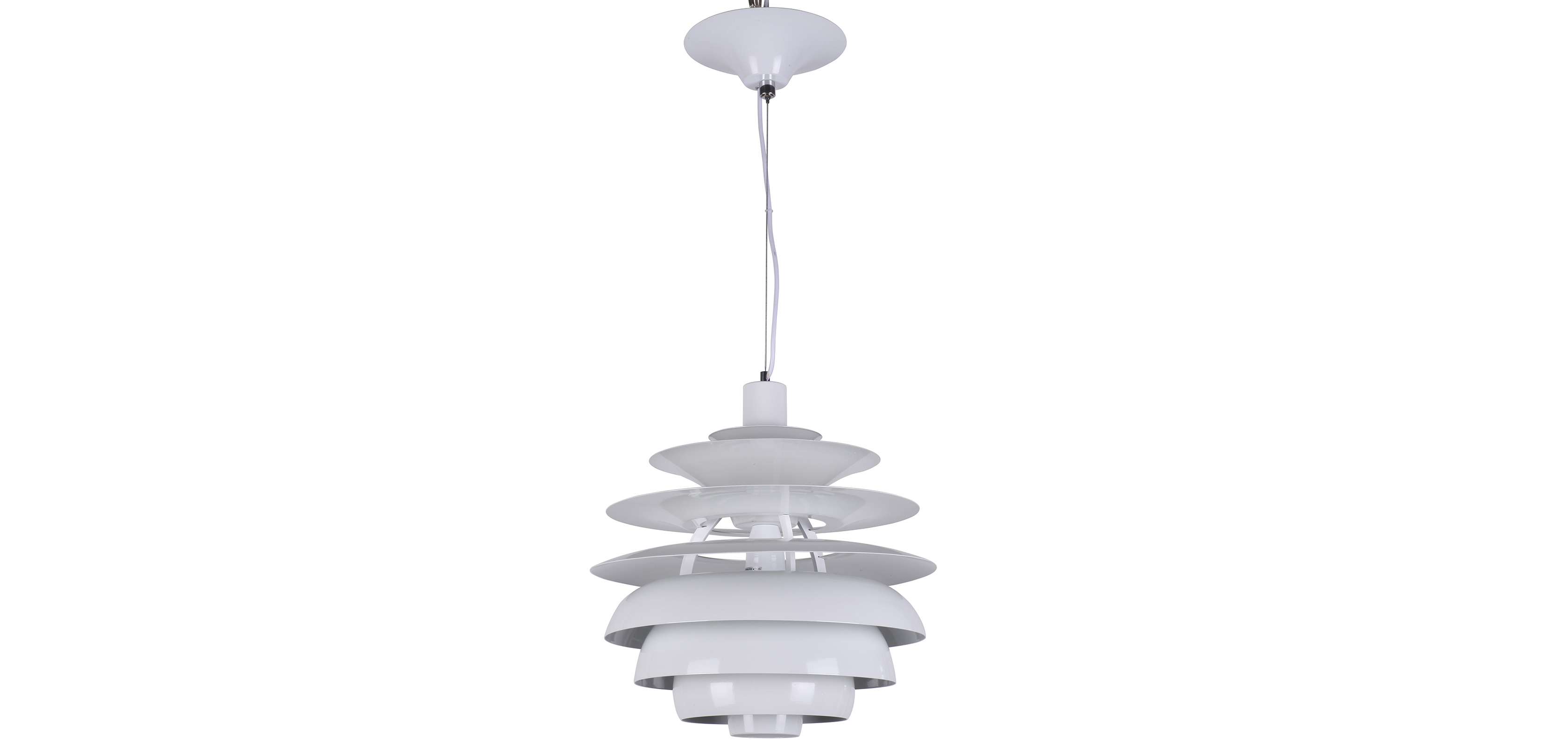 Lampe suspension snow ball style poul henningsen for Suspension aluminium cuisine