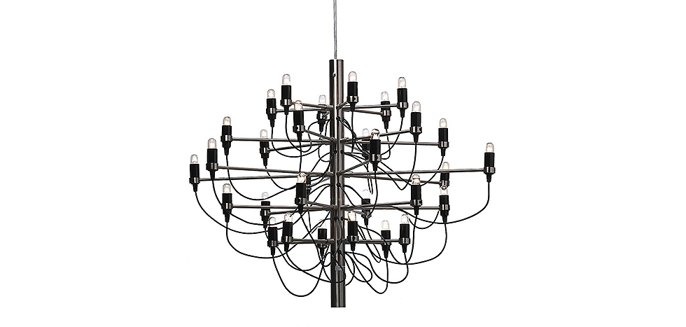 chandelier 2097 gino sarfatti style big model suspensions. Black Bedroom Furniture Sets. Home Design Ideas
