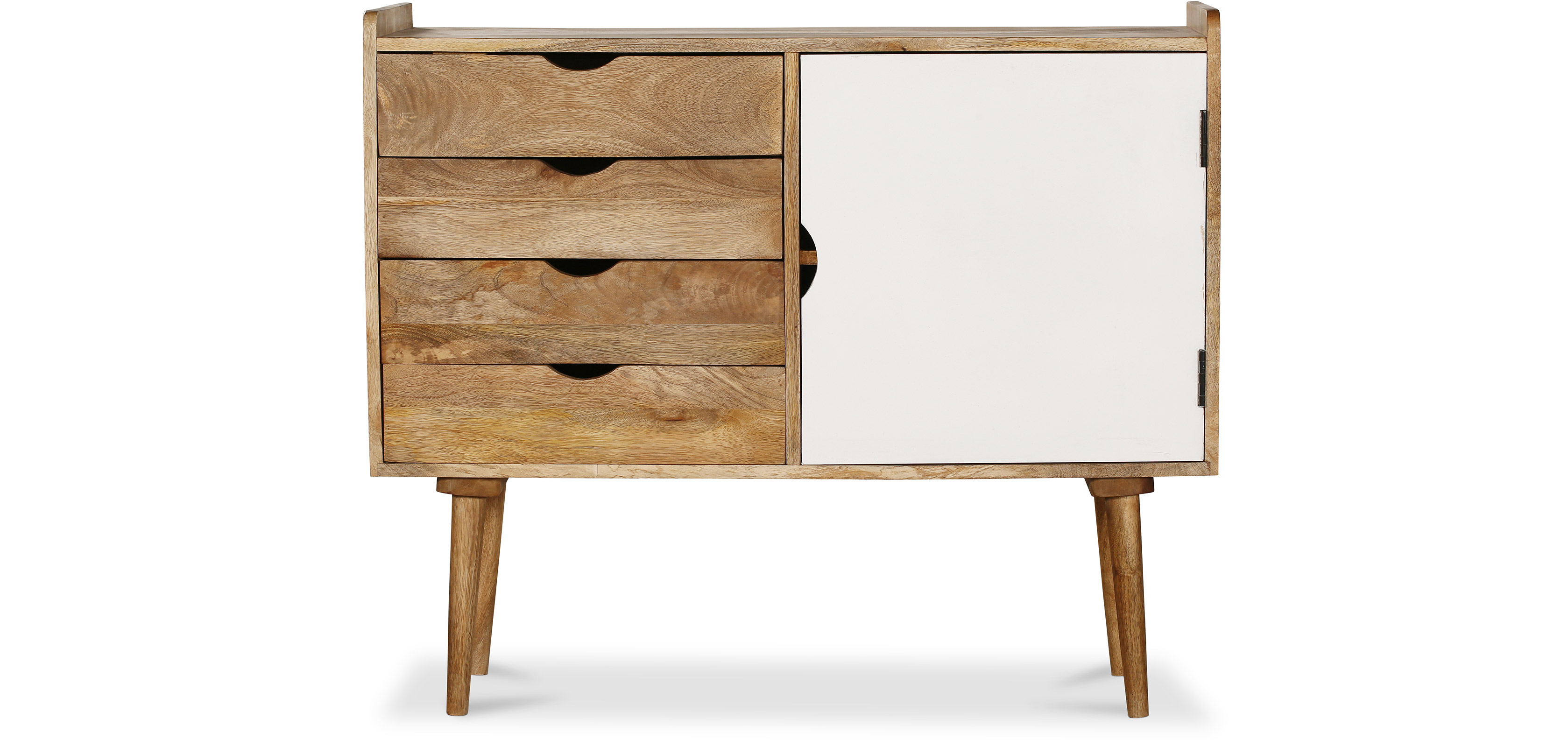 buffet vintage industriel en bois blanc pas cher. Black Bedroom Furniture Sets. Home Design Ideas