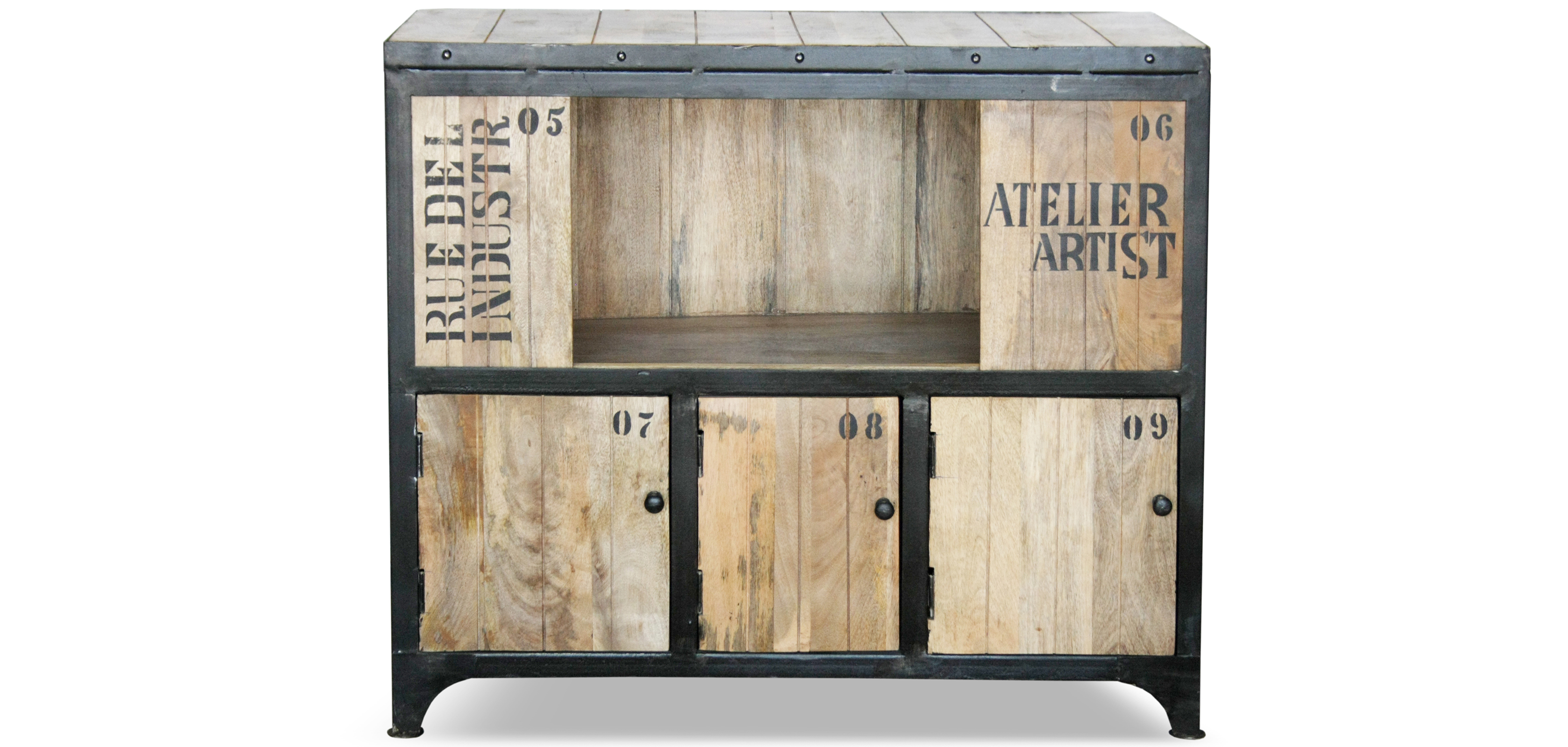 Meuble vintage industriel for Meuble retro industriel