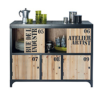 mobilier style industriel vintage pas cher. Black Bedroom Furniture Sets. Home Design Ideas