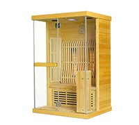 Sauna infrarouge 2 personnes - Bois Naturel