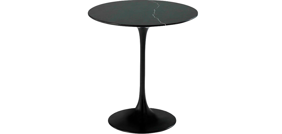 table basse tulipe en marbe style eero saarinen 50cm pas cher. Black Bedroom Furniture Sets. Home Design Ideas