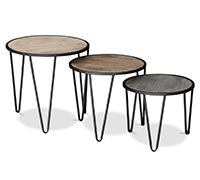 Petites tables basses rondes Hairpin
