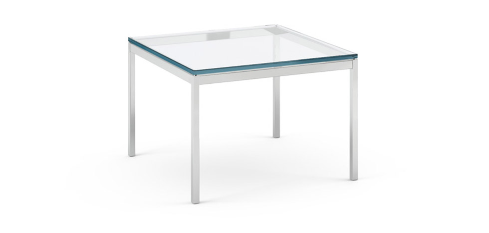 Table basse carr e florence knoll style pas cher for Couchtisch 60 x 80