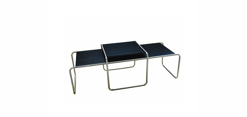 Laccio coffee table wood and steel marcel breuer style Laccio coffee table