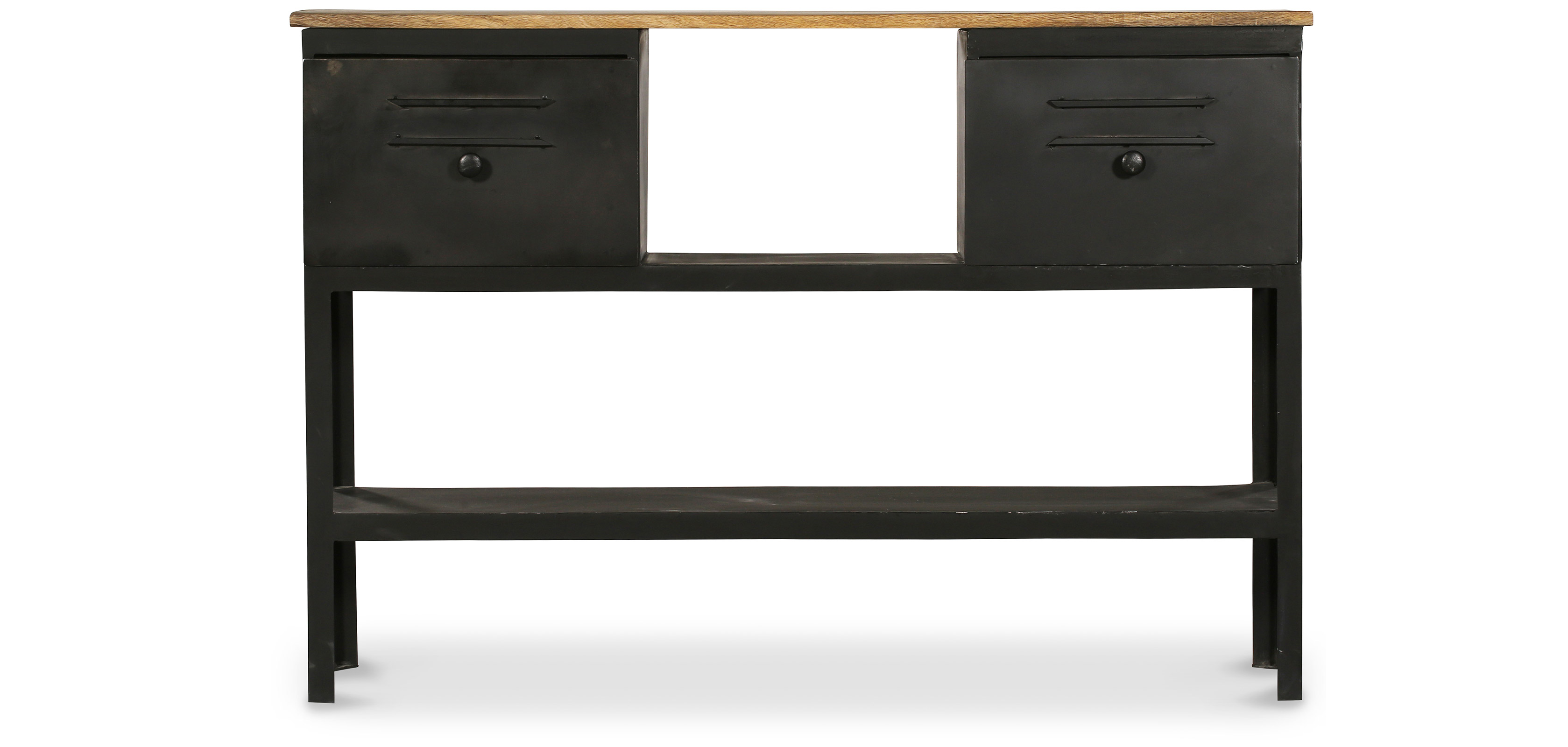 console industrielle 2 tiroirs m tal pas cher. Black Bedroom Furniture Sets. Home Design Ideas
