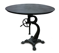 Table Ronde Ajustable Vintage Industrial - Métal