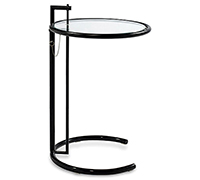 Table Adjustable E1027 Eileen Gray Style - Noire