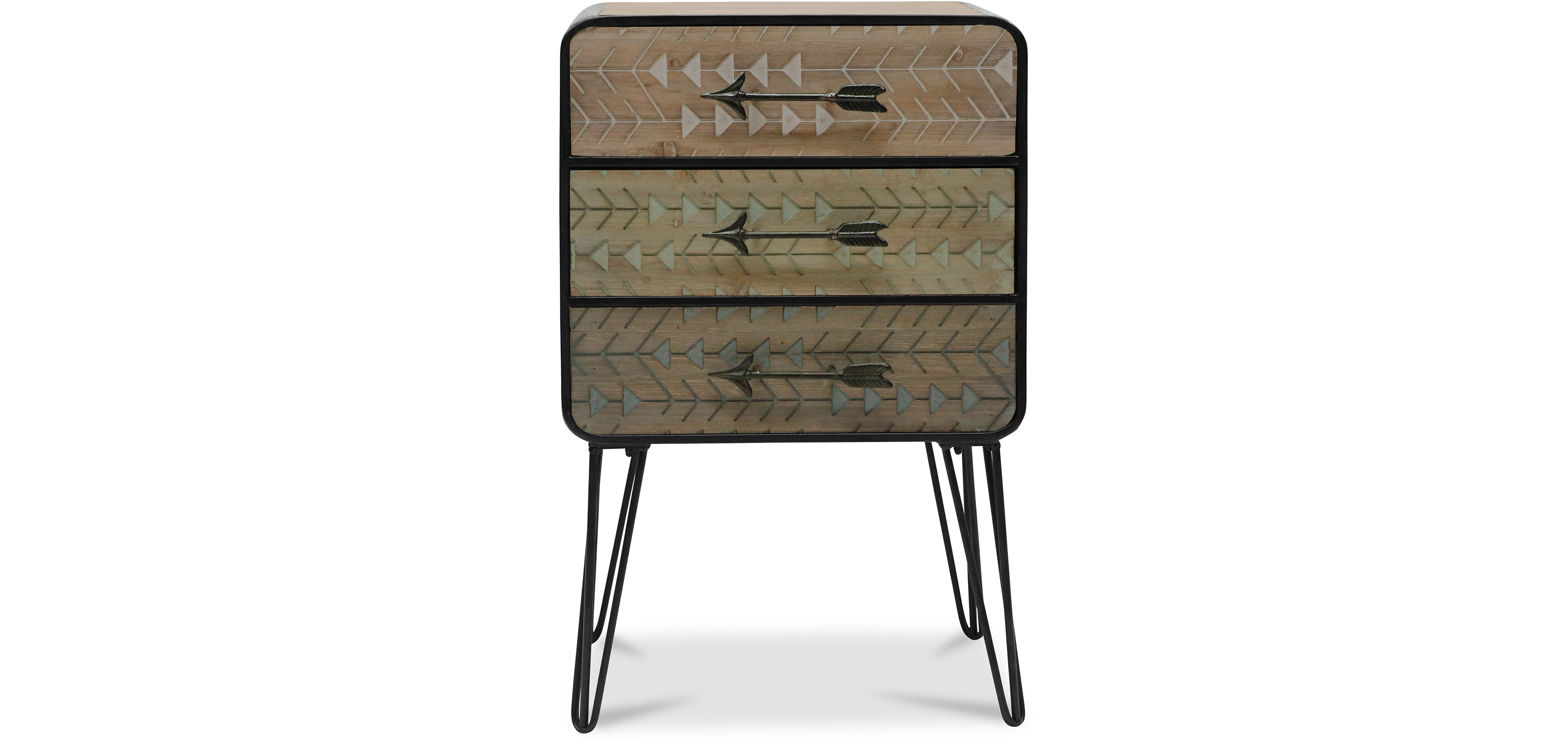 Commode pieds pingle style industriel pas cher - Commode style industriel ...