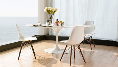 table tulipe eero saarinen style marbre 110 cm pas cher. Black Bedroom Furniture Sets. Home Design Ideas
