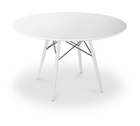 Table DSW 100cm Charles Eames Style - Pieds Blancs