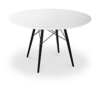Table DSW 100cm Charles Eames Style - Pieds Noirs