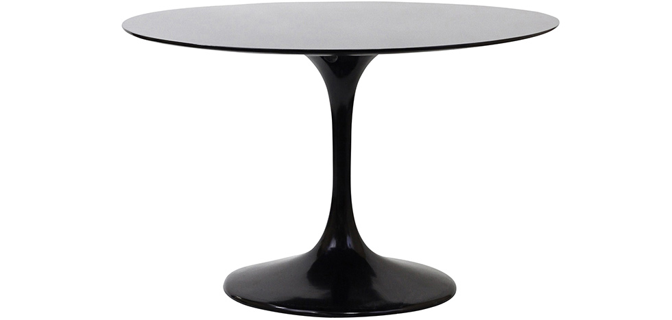 table ronde tulipe fibre de verre style eero saarinen 90 cm pas cher. Black Bedroom Furniture Sets. Home Design Ideas