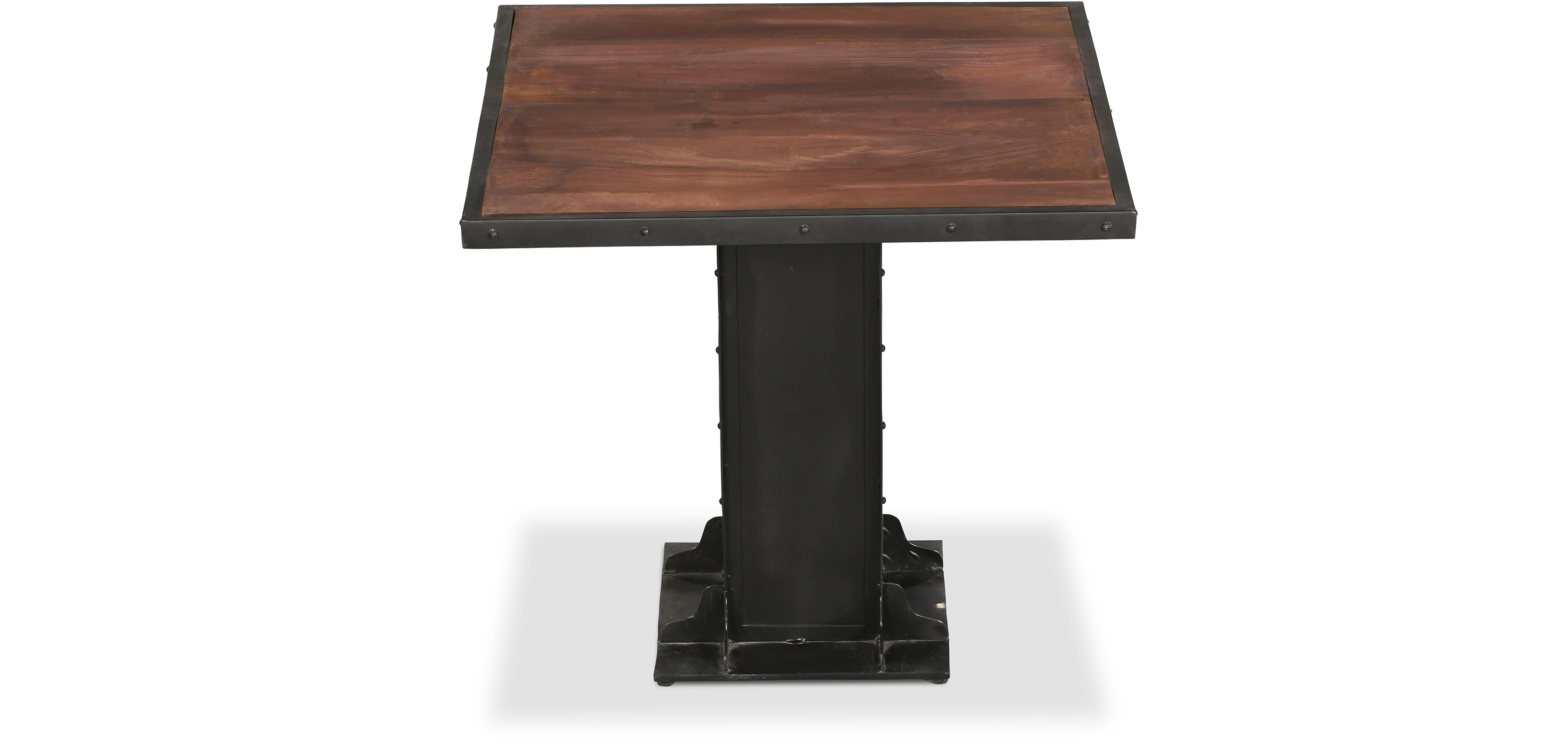 Table de salle manger carr e en m tal style industriel for Table a manger industriel pas cher