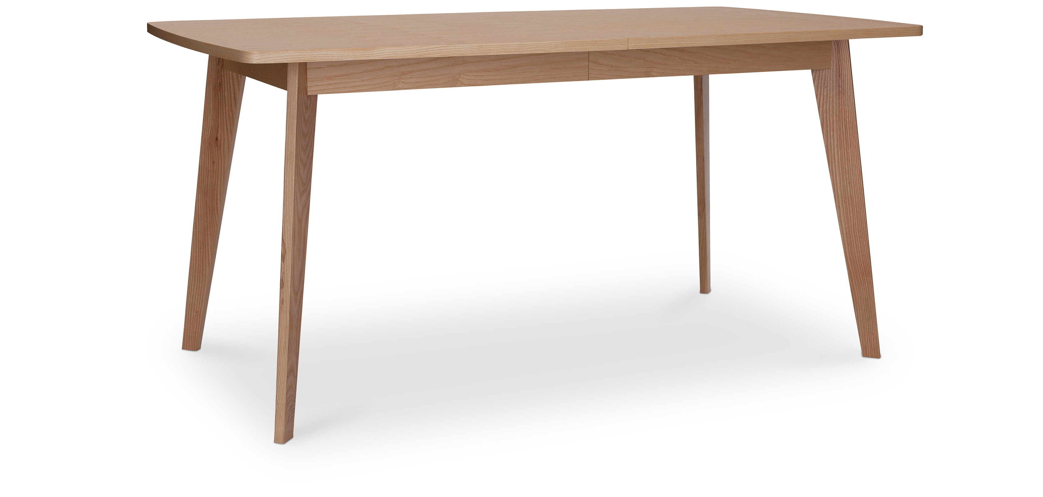 Table de salle manger ajustable en bois style scandinave for Table a manger scandinave bois