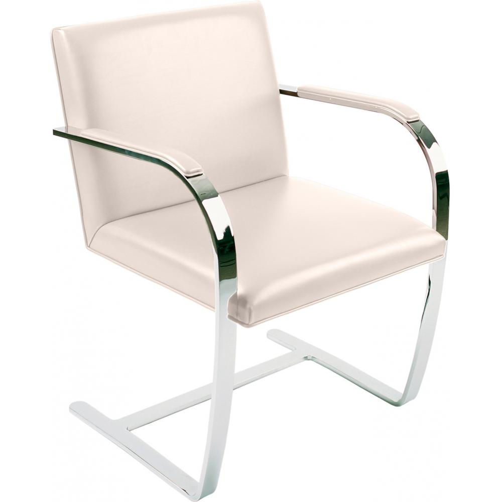 Chair Brno style Ludwig Mies van der Rohe - Premium Leather Ivory