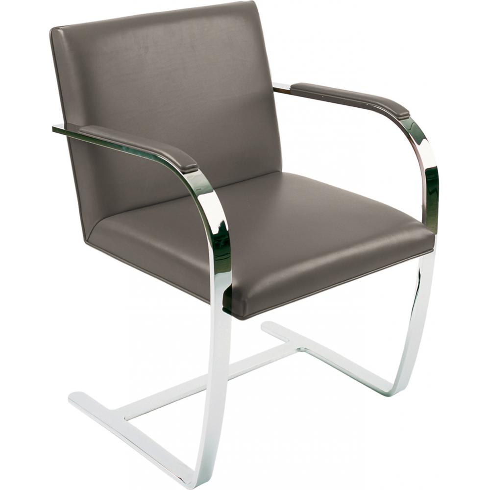 Chair Brno style Ludwig Mies van der Rohe - Premium Leather Taupe