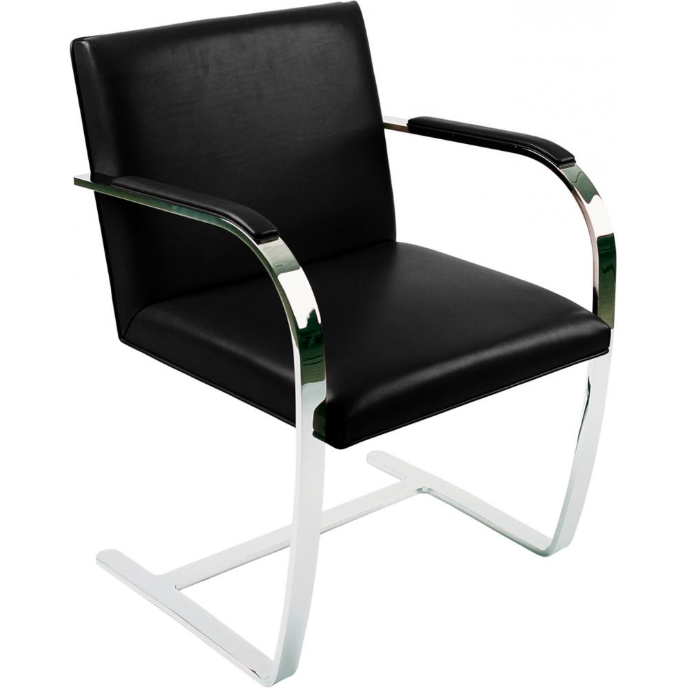 Chair Brno style Ludwig Mies van der Rohe - Premium Leather Black