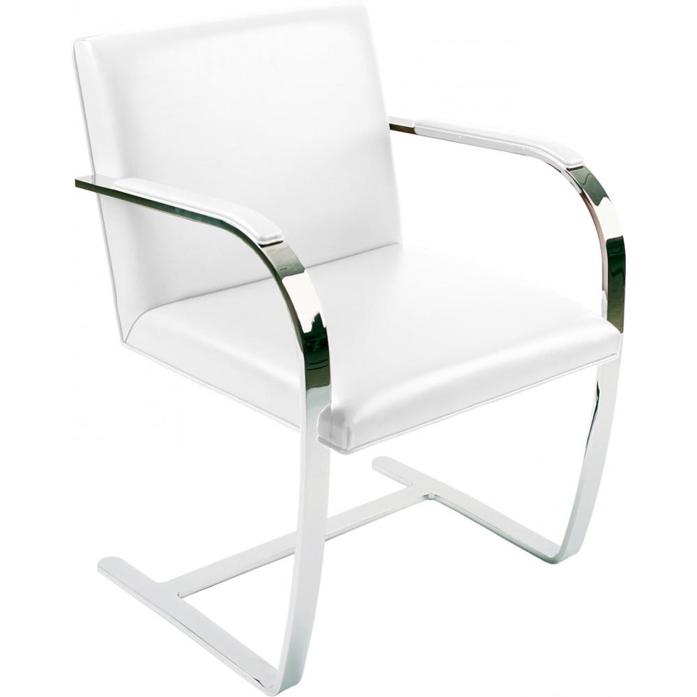 Chair Brno style Ludwig Mies van der Rohe - Premium Leather White