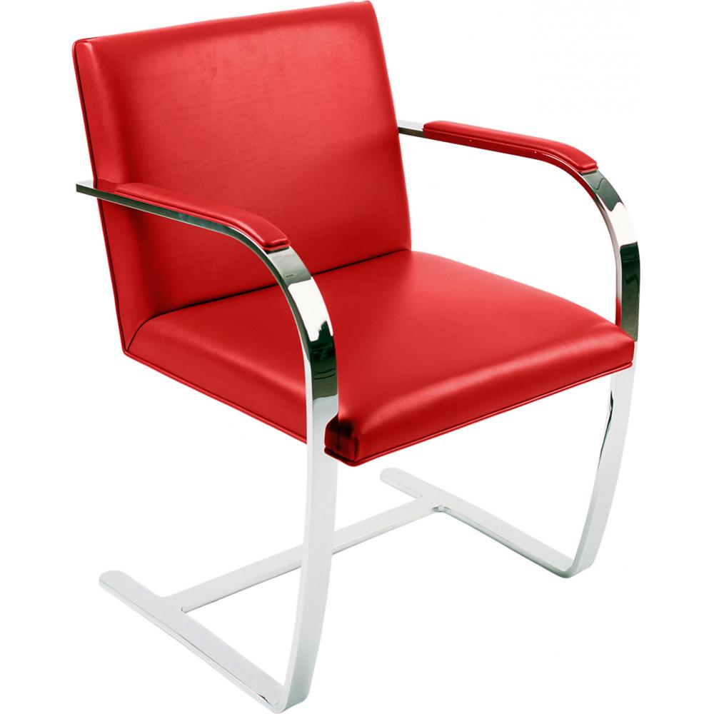 Chair Brno style Ludwig Mies van der Rohe - Premium Leather Red