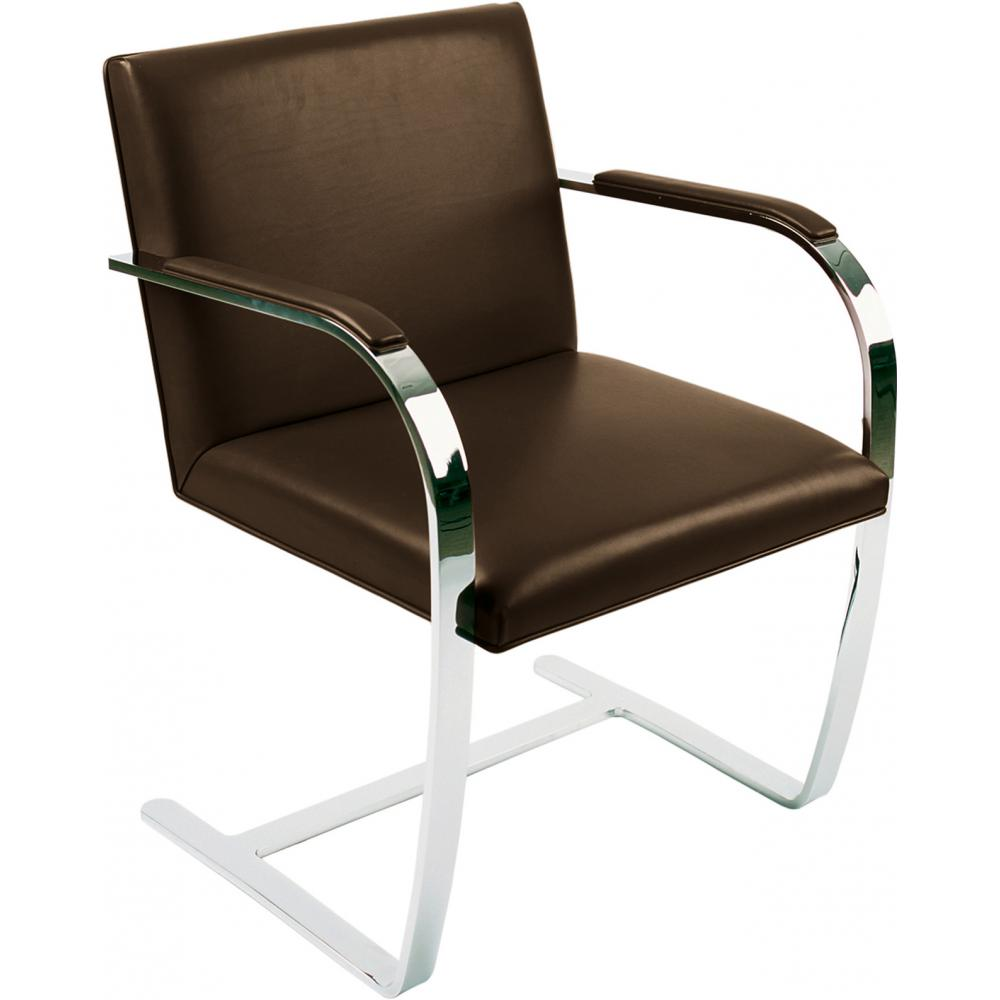 Chair Brno style Ludwig Mies van der Rohe - Premium Leather Chocolate